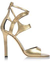 Tamara Mellon Gold Sandals - Lyst