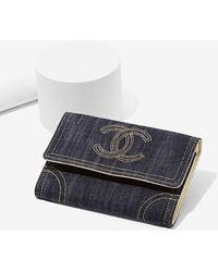Nasty Gal - Vintage Chanel Denim Wallet - Lyst