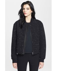 Rag & Bone 'Challenge' Leather Trim Bomber Jacket - Lyst