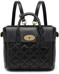 Mulberry Cara Delevingne Mini Convertible Quilted Leather Satchel Lyst