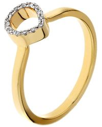 Monica Vinader - Diva Mini Lotus Open Diamond Ring - Lyst