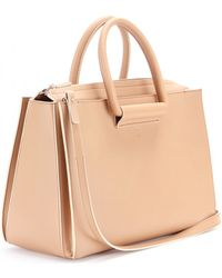 The Row Leather Tote - Lyst