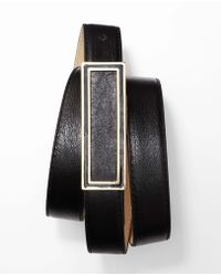 Ann Taylor Luxe Leather Frame Belt - Lyst