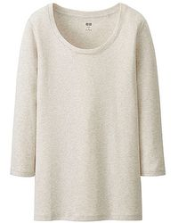 Uniqlo Supima Cotton Modal 34 Sleeve T-shirt - Lyst