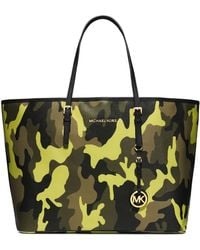 Michael by Michael Kors Medium Jet Set Camo Travel Tote - Lyst