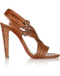 Christian Louboutin Guernica 100 Cutout Leather Sandals - Lyst