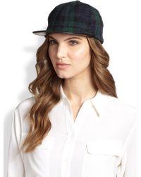 Eugenia Kim Darien Wool & Leather Baseball Hat - Lyst
