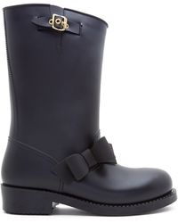 RED Valentino Rubber Bow Boot - Lyst