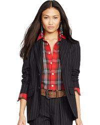 Polo Ralph Lauren Pinstriped Wool Jacket - Lyst