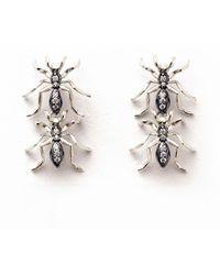 J. Herwitt - Double Ant Earrings - Lyst