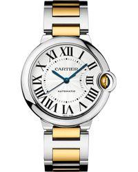 Cartier Ballon Bleu De 18Ct Yellow-Gold And Stainless Steel Watch - For Men silver - Lyst
