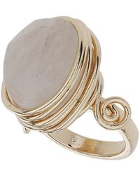 TOPSHOP - Crystal Wrap Stone Ring - Lyst