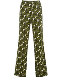 Peter Som Floral Trousers - Lyst