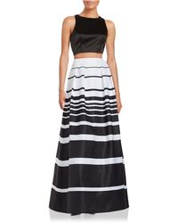 Xscape - Cropped Top And Skirt Set - Lyst