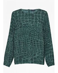 French connection Ali Gator Check Tunic Top - Lyst