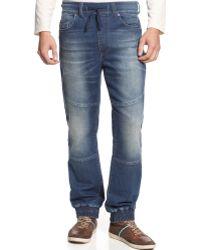 DKNY Knit Jogger Jeans - Lyst