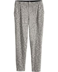 H&M Gray Jersey Slacks - Lyst