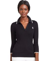 Lauren by Ralph Lauren Cable-knit Pullover Sweater - Lyst