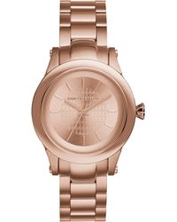 Karl Lagerfeld Womens Karl Chain Rose Gold Ion-plated Stainless Steel Bracelet Watch 39mm - Lyst
