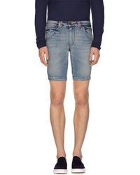Gazzarrini - Denim Bermudas - Lyst