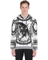 Dolce & Gabbana Bull Print Hoodie black - Lyst