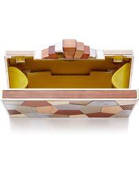 Lela Rose - Wood Mosaic Rectangle Minaudiere - Lyst
