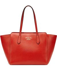 Gucci Swing Small Leather Tote Bag - Lyst