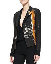 Donna Karan New York Metallic Printed Boyfriend Jacket - Lyst