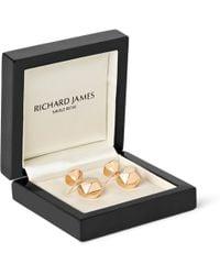 Richard James - Geometric Rose Gold-Plated Cufflinks - Lyst