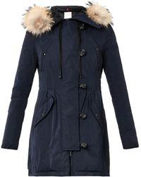 Moncler Arrious Fur-trimmed Hood Coat - Lyst