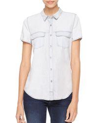 Calvin Klein Jeans Snap-Front Blouse - Lyst