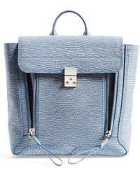 3.1 Phillip Lim Women'S 'Pashli' Two-Tone Leather Backpack - Blue - Lyst