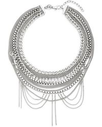 Rebecca Minkoff Draped Hex Chain Bib Necklace - Lyst