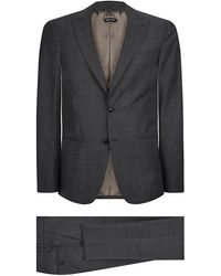 Giorgio Armani Houndstooth Check Wool Suit - Lyst