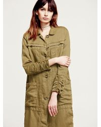 Free People Womens Textured Duster - Lyst