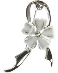 Indulgence Jewellery - White Resin Flower Brooch - Lyst