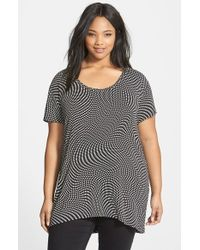 Sejour Print High/Low Tee - Lyst
