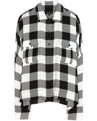 Rag & Bone Carley Silk Shirt - Lyst
