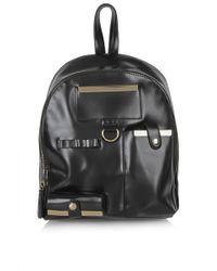 Topshop Black Utility Backpack - Lyst