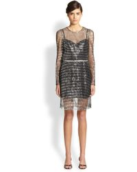 Marc Jacobs Sequined Stripe Dress - Lyst