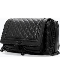Zara Quilted Leather City Bag - Lyst
