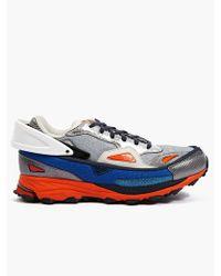 Adidas Originals X Raf Simons Mens Silver Response Trail Sneakers - Lyst