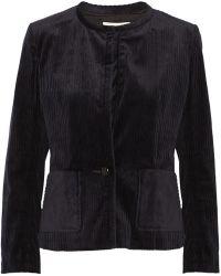 Etoile Isabel Marant Gray Corduroy Jacket - Lyst