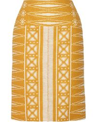 Tory Burch Savora Tweed Pencil Skirt - Lyst