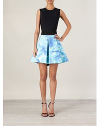 Fausto Puglisi Box Pleated Print Skirt - Lyst