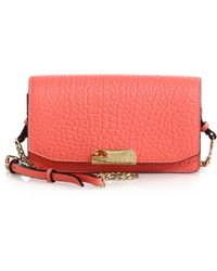 Burberry Madison Small Pebbled Leather Clutch pink - Lyst