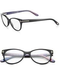 Tom Ford Cat'S Eye Optical Glasses - Lyst