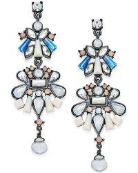 Danielle Nicole - Hematite-tone Crystal Drop Earrings - Lyst
