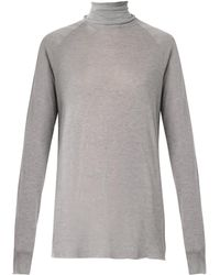 Haider Ackermann Rollneck Fineknit Sweater - Lyst