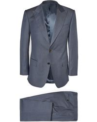 Gieves & Hawkes Blue Wool Suit - Lyst